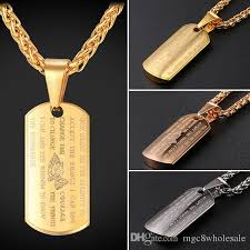 gold dog pendant necklace images Wholesale u7 dog tag praying hands pendants necklaces with bible jpg