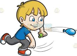 water balloons a boy with water balloons clipart vector