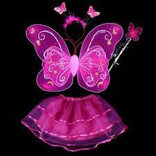 wholesale halloween supplies butterfly angel dress up 4pcs kids