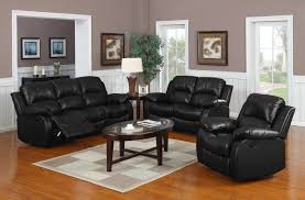 Cheap Livingroom Set Handsome Living Room Decor Ideas Using Black Leather Couches And