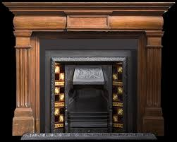 large victorian oak fire surround