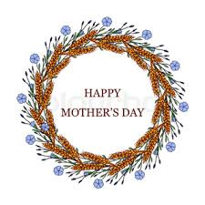 happy mothers day cute griting card calligraphy black and white