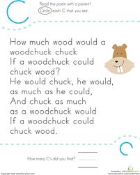 letter recognition c worksheet education com