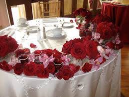 interior design creative red rose themed wedding decorations