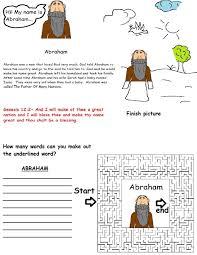 abraham activity sheet for kids in sunday or children u0027s