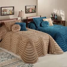 Cheap Bed Spreads Promenade Cotton Chenille Oversized Bedspreads