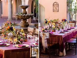 vibrant fall wedding tablescape for thanksgiving the pink bride