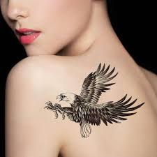 tattoo eagle girl arm waterproof art removable body tattoo sticker dragon mermaid girl