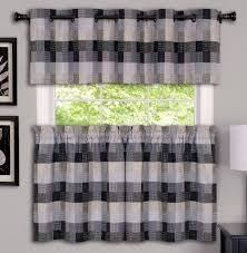 Gray Kitchen Curtains by Kitchen Curtains Tiers Swags Valances Lace Kitchen Curtains
