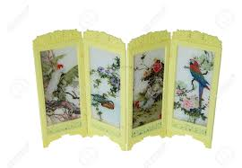 Oriental Room Dividers by Oriental Room Divider Screen Decorated With Asian Symbols And