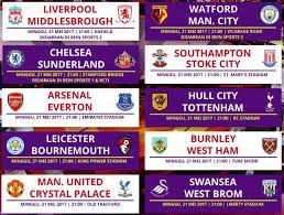 Jadwal Liga Inggris Jadwal Lengkap Dan Siaran Langsung Liga Inggris Pekan 38 Minggu