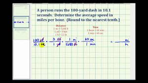 ex convert yards per second to miles per hour youtube