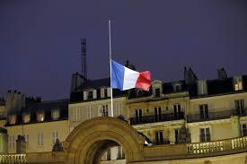 Paris Flag Eu Flags At Half Mast Minute U0027s Silence For Charlie Hebdo Victims