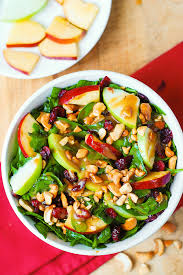 apple cranberry spinach salad with balsamic vinaigrette s