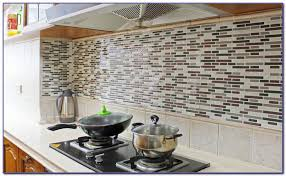 Vinyl Stick On Tile Backsplash Tiles  Home Design Ideas - Peel and stick vinyl tile backsplash