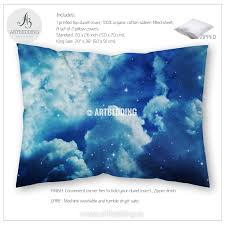 Duvet Insert Twin Night Cloudy Sky With Stars Bedding Queen King Full Twin