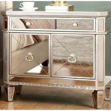 nobby mirrored nightstand with drawers 3 drawer foter home