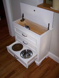 Pet Food Storage Cabinet Diy Dog Bowl Stand With Storage Diy Do It Your Self