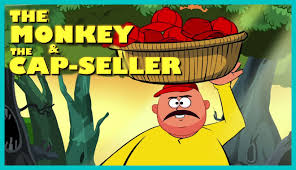 the monkey and the cap seller story english story for kids youtube