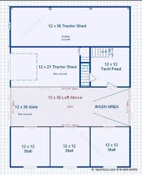 Barn Designs For Horses Barn Plans 3 Stall Horse Barn Design Floor Plan Ga Barn Builder