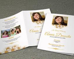 Funeral Program Designs Purple Flower Funeral Program Template Printable Memorial