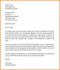 7 2 weeks notice resignation letter audit letters
