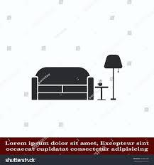 home interior design icon sofa icon stock vector 587862788