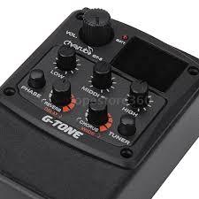 cherub g tone gt 6 guitar preamp piezo pickup 3 band eq equalizer