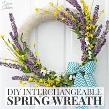 diy interchangeable spring wreath tutorial decor by the seashore