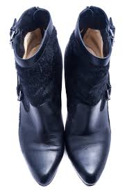 christian louboutin calf hair booties w buckles sz 41 luxury