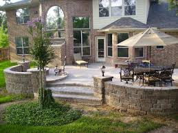 Raised Paver Patio Raised Paver Patio With Bench Seating And Lighting Yelp