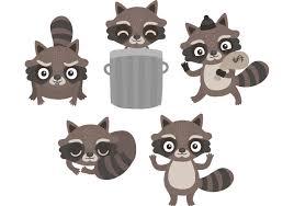 raccoon vector clipart 29