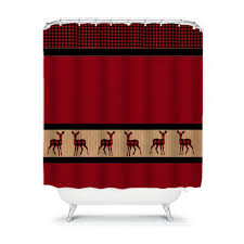 Deer Shower Curtains Bathroom Ideas Turquoise Plaid Shower Curtain Dark Brown Paisley