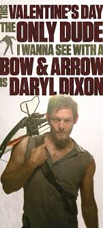 Walking Dead Valentine Meme - daryl dixon cupid is on vacation