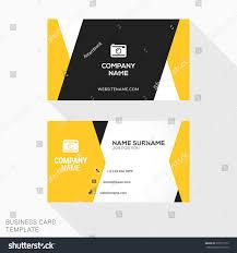 Flat Design Business Card Creative Business Card Vector Template Flat Stock Vector 370513175