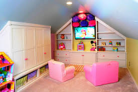 splendid playroom style in attic decor display splendid white
