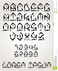 west coast graffiti font hand written tattoo lettering vector