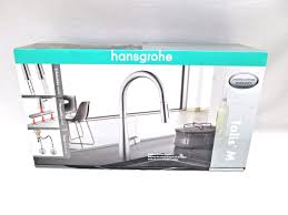 hansgrohe talis s kitchen faucet hansgrohe talis m high arc kitchen faucet solid brass steel optik