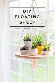 kitchen shelf decorating ideas diy floating shelf to display your plants or other decor items