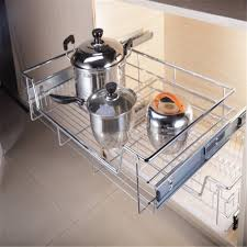 Pull Out Baskets For Kitchen Cabinets by Revashelf 205in W X 7in H Metal 1 Pull Out Shelf Organizes Up To