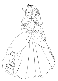 princess aurora coloring pages download free printable coloring