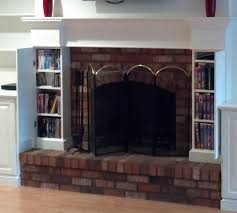 Fireplace Storage by Nick Custom Fireplace And Cabinet Built In With Additional Hidden