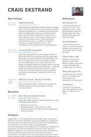 Accounting Resume Examples And Samples by Staff Accountant Resume Samples Visualcv Resume Samples Database