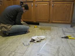 vinyl kitchen flooring ideas tips for installing a kitchen vinyl tile floor merrypad
