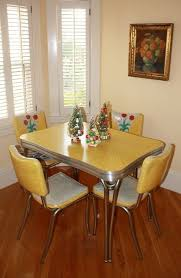 Yellow Retro Kitchen Chairs - 31 best formica table and chairs redo images on pinterest