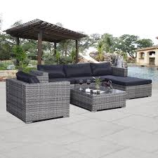 Costway Pc Patio Sofa Furniture Set Pe Rattan Couch Outdoor - Outdoor furniture set