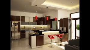 ultra modern kitchen design with led lighting fixtures modern