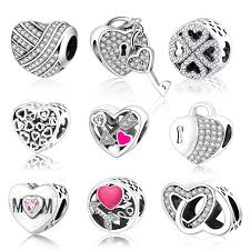 love hearts charm bracelet images Classic beads love heart charm fit original pandora charms jpg