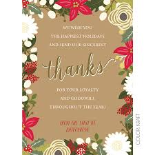 Christmas Cards Invitation Floral Thanks Holiday Cards Kateogroup