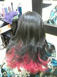dye bottom hair tips still in style back when i had the bottom of my hair dyed red too bad red doesn